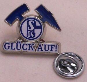 Pin-Anstecker-FC-Schalke-04-Signet-GLUCK-AUF-Kumpel-Zeche-Lizenzprodukt-213