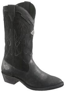 da Cowboy Harley Stivali Galen motociclista New nera pelle in Davidson Rocks Western w77qIS