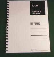 Icom Ic-706 Service Manual - Premium Card Stock Covers & 32 Lb Paper