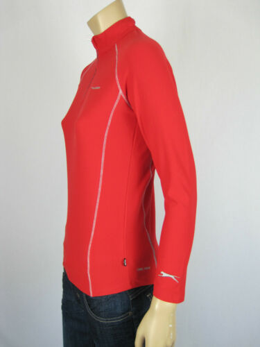 Slazenger Sport Kids 3//4 Zip Runner Training Top Jumper sizes 10 12 14 16 Red