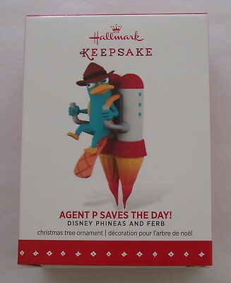 Hallmark 2015 Disney Perry the Platypus Agent Phineas & Ferb Christmas Ornament