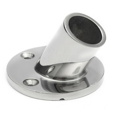 Stainless Steel Yacht Boat Hand Rail Fittings 60° Degree 7/8'' Round Base-Marine