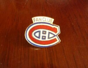 NHL-Hockey-Montreal-Canadiens-Fan-Club-Metal-Lapel-Pin-Team-Logo