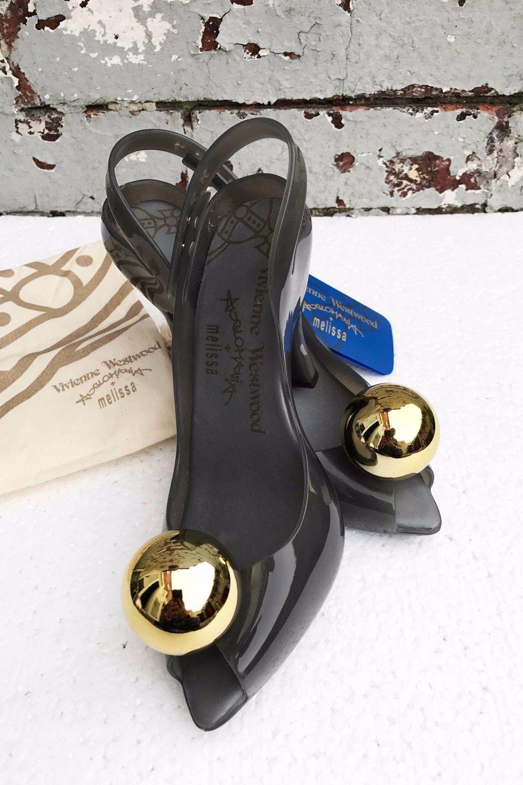 Vivienne Westwood Melissa - - - - - VW-Lady-Dragon-Dorado - Globe-Charol-Zapatos - 37UK4  venta