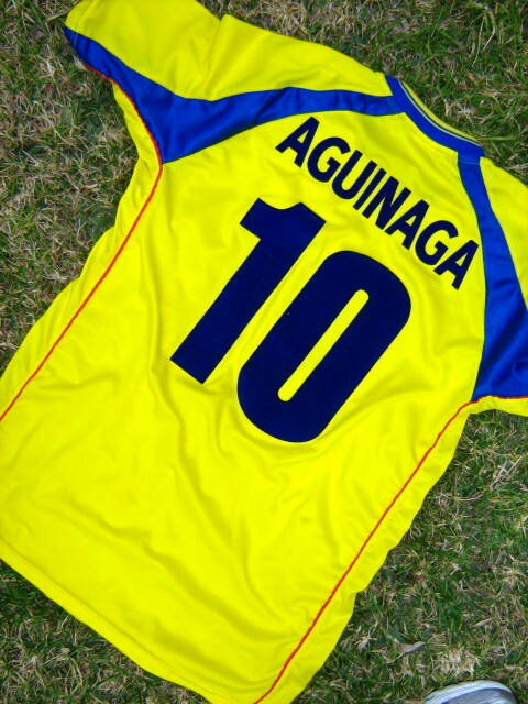 ECUADOR 2002 AGUINAGA WORLD CUP UNIQUE AUTHENTIC JERSEY