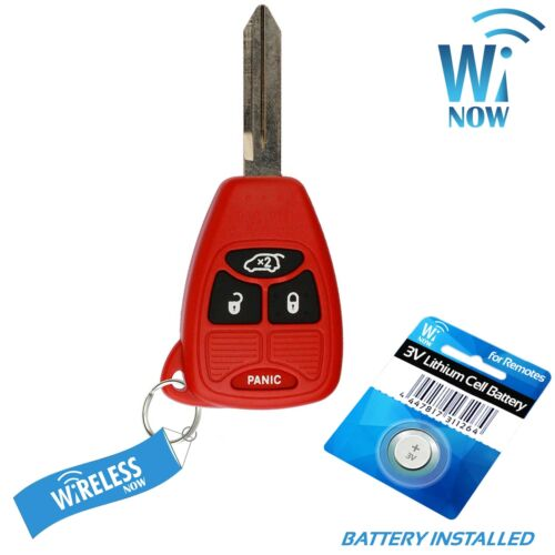 Car Key Fob Keyless Entry Remote Red For 2006 2007 Dodge Charger