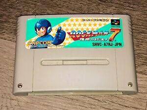 Rockman 7 Mega Man Nintendo Super Famicom Snes Tested Authentic US Seller