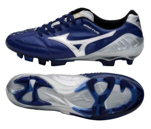 Mizuno Men Wave IGNITUS 4 MD Cleats Soccer Football Blue Shoes Spike P1GA173003