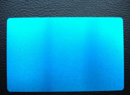 0.20mm 100pcs laser engraved Metal Business Cards Blanks 3.4x2.1 in Thicknes