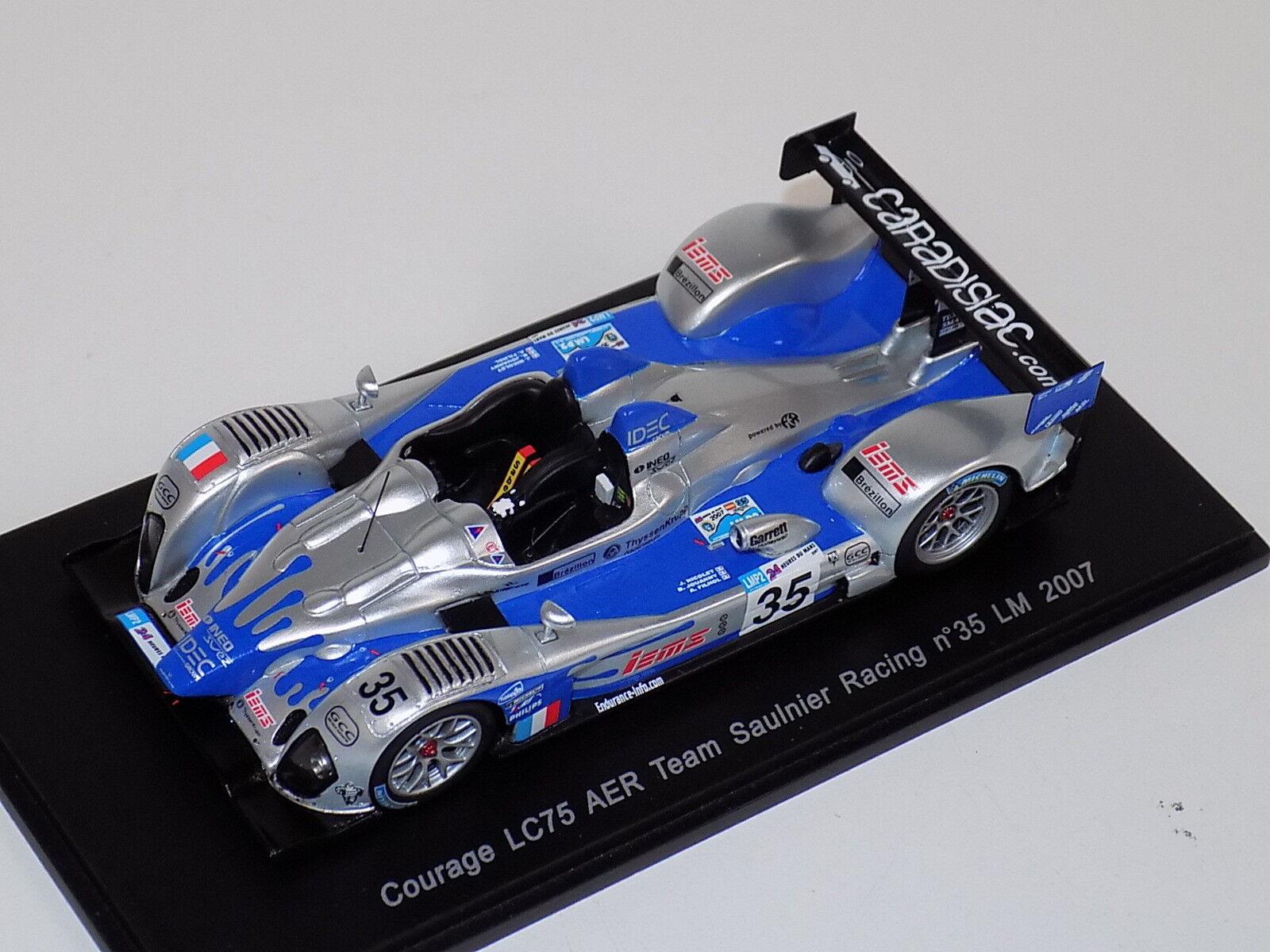 1 43 Spark coraje LC25 AER coche horas de LeMans 2007 S1424
