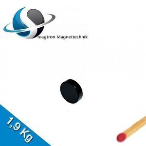 10 Aimants Néodyme Ø10x3 mm Ndfeb N45 Disques Magnétiques - Epoxy - Noir