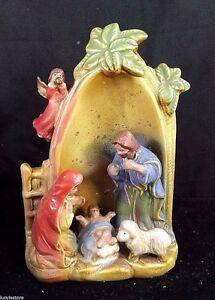 Glazed Ceramic Decorative Religious Nativity Scene Figurines One