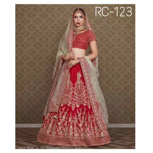 Desginer Bollywood Lehenga con Fancy a lavoro Choli Indian ricamo U1aqdR1w