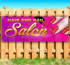 Hair And Nail Salon Advertising Vinyl Banner Flag Sign Many Sizes Usa Barber