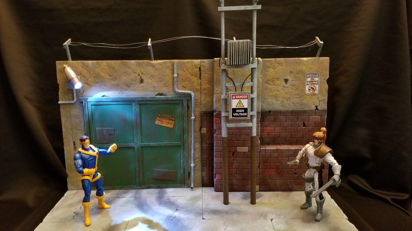 Herowerx DIORAMA  FIGURINE DC Bathomme Marvel légende Sélectionner scène de rue  plus vendu