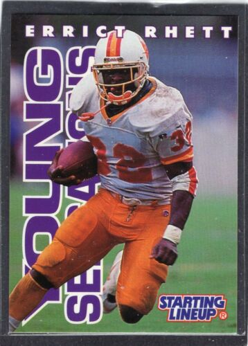 1996  ERRICT RHETT Starting Lineup Card Tampa Bay Buccaneers