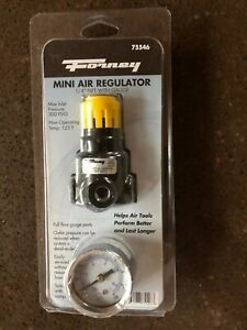 FORNEY-Plastic-Air-Line-Mini-Regulator-with-Gauge-1-4-in-NPT-300-psi-75546