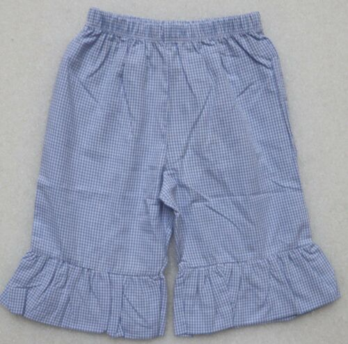BEEHAVE INFANT TODDLER GIRLS BOUTIQUE RUFFLED CAPRI PANTS GINGHAM CHECK BOUTIQUE