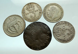GROUP-LOT-of-5-Old-SILVER-Europe-or-Other-WORLD-Coins-for-your-COLLECTION-i75694