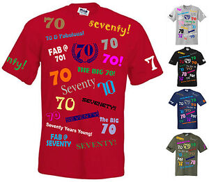 Image Is Loading 70th BIRTHDAY STANDARD CUT T SHIRT S To