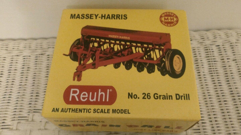 Vintage TOY REUHL MASSEY HARRIS GRAIN DRILL