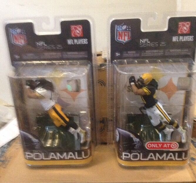 McFARLANE NFL 25 TROY POLAMALU RETRO EXCLUSIVE & VARIANT CHASE STEELERS FIGURE