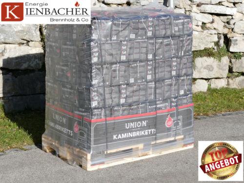 96 Pack á 10kg UNION Brikett Ofen Kamin Kohle Briketts TOP-PREIS 960kg Palette