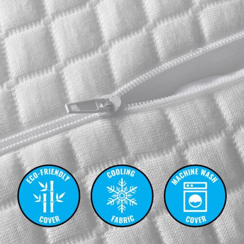 Plixio Orthopedic Memory Foam Contour Pillow Cervical Neck Support Bamboo Cover