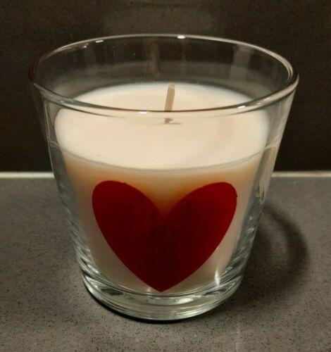 Mère/'s Jour Cadeau Coeur Rouge Candle 25 H Warm Vanilla Bougie