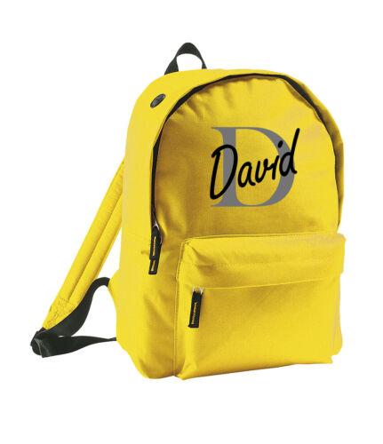 Personalised Name Backpack Printed Customised Rucksack Adults Bag Kids School