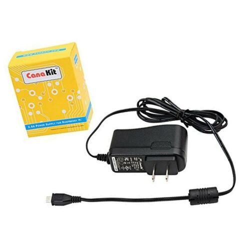 CanaKit 5V 2.5A Raspberry Pi 3 B Adapter UL Listed Power Supply
