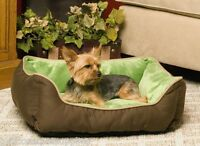 K&h Lounge Sleeper Self-warming Pet Bed, 16 X 20 Mocha/green K&h 3161