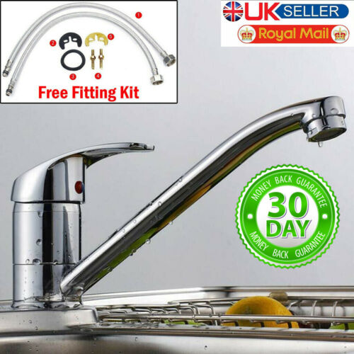 Modern Kitchen Taps Basin Sink Mono Mixer Chrome Cloakroom Tap with Waste