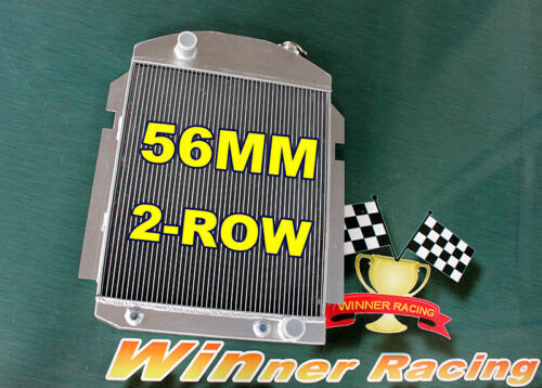 "T=2¼/"" 2-Row Aluminum Alloy Radiator Chevy Pickup//Truck W//SBC//BBC V8//L6 1938-1940"
