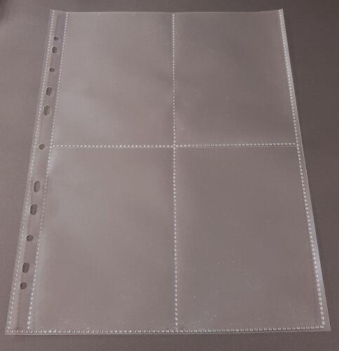 10-100x A4 Sammelhüllen Prospekthüllen Kartenhüllen 120my geteilt auf A5 A6 A8