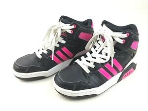 new style 013f7 a3b40 Details about Adidas Neo Kids Girls High Top Athletic Shoes Sport Sneakers  B74645 US Size 2