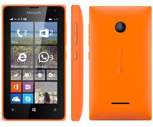 NUEVO-MICROSOFT-NOKIA-LUMIA-435-Windows-8gb-Telefono-Movil-Naranja-Desbloqueo