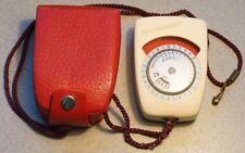 Belichtungsmesser WEIMARLUX in rotem Lederetui, funktioniert, Lightmeter, DDR