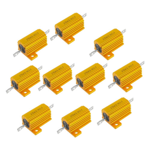 10pcs 25W 3.9 Ohm Aluminium Shell Power Housed Case Wirewound Resistor