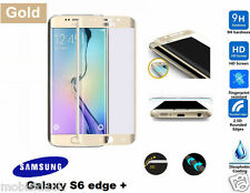 Samsung Galaxy S6 Edge Plus 3D Curved GOLD Tempered LCD Glass Screen Protector