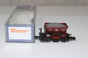 n3227-Roco-Schotterwagen-der-DB-mit-Gleisschotter-Ladung-mint-BOX-Spur-N-aus-Se