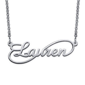 Infinity-Style-Name-Necklace-in-Sterling-Silver-925-Personalized-USA-Seller