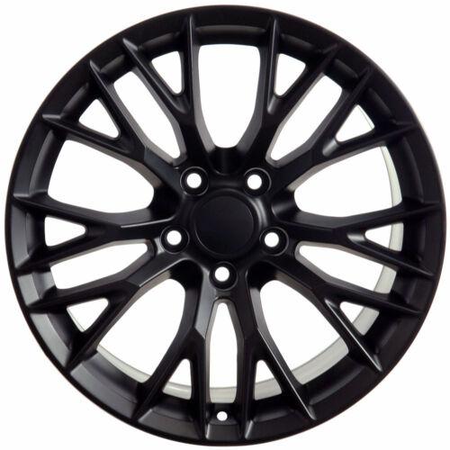 5-120.65mm New 18x10.5 Satin Black Rear Rims For Chevy Corvette C7 Z06 Style