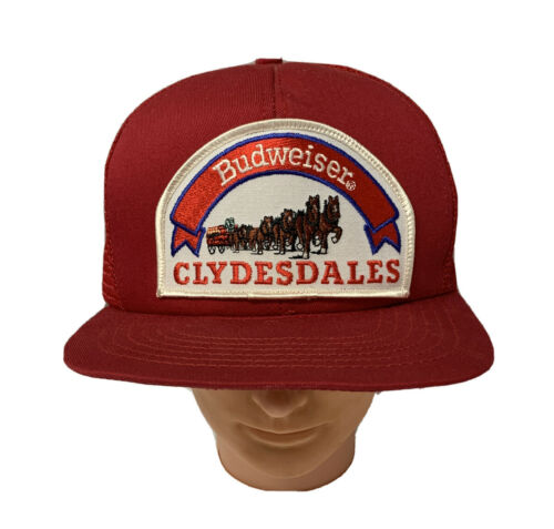 Vintage Budweiser Clydesdales Patch Snapback Truck