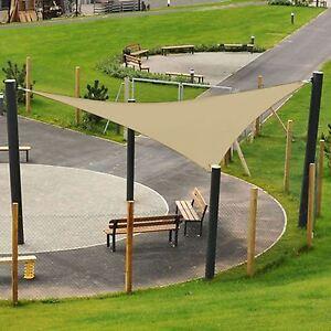 Cortina De Vela Jardín Patio Toldo Triángulo Toldo Protector Solar 90% UV bloque al aire libre  </span>