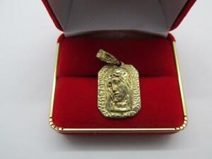 14k-Solid-Yellow-Gold-Jesus-Christ-Pendant-Rare-Vintage-Hand-Made-Pendant-Charm