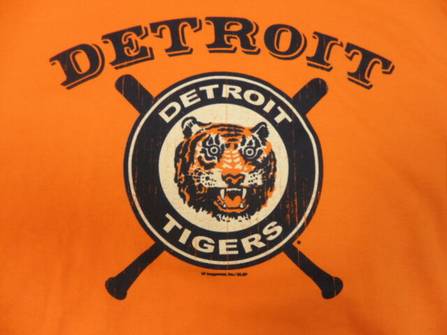 NEW Orange Detroit Tigers Cooperstown Collection Hooded Sweatshirt Large L NWT