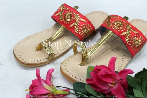 US Kolhapuri Sandal For Women Indian Shoes Ethnic Shoes Kolhapuri Chappal HH297