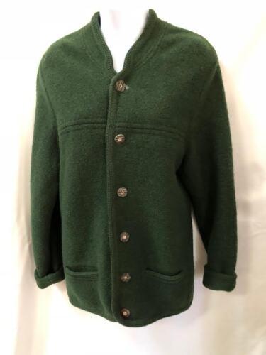 Vintage Stil Uld Nice Størrelse Østrigsk Mørkegrøn Large Kogt Jakke 1gxnTR1qrw