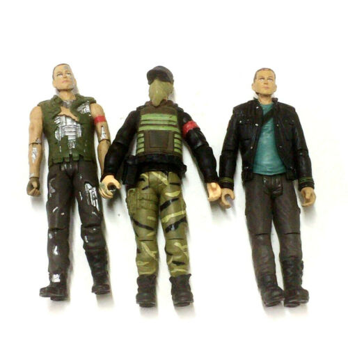 3Pcs Playmates TERMINATOR SALVATION JOHN CONNOR Marcus 2009 Figure collect toys